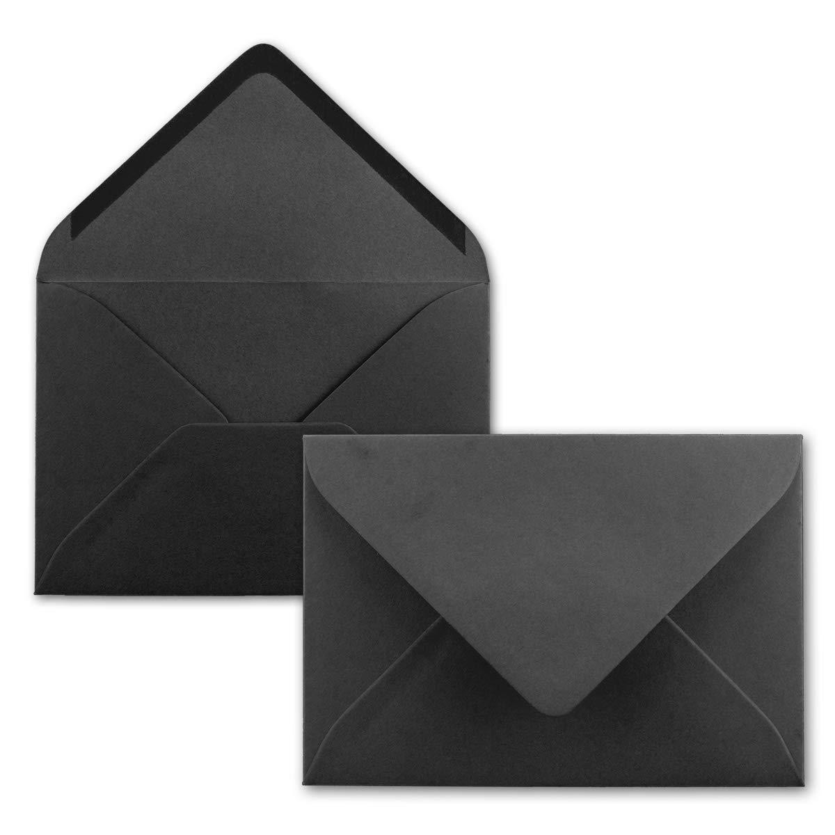 Neuser Buste per lettere, in colori vivaci, formato C6, dimensioni 162 x 114 mm, chiusura adesiva da inumidire. 50 Umschlä ge 39-Schwarz dimensioni162 x 114mm chiusura adesiva da inumidire. 50 Umschläge 39-Schwarz
