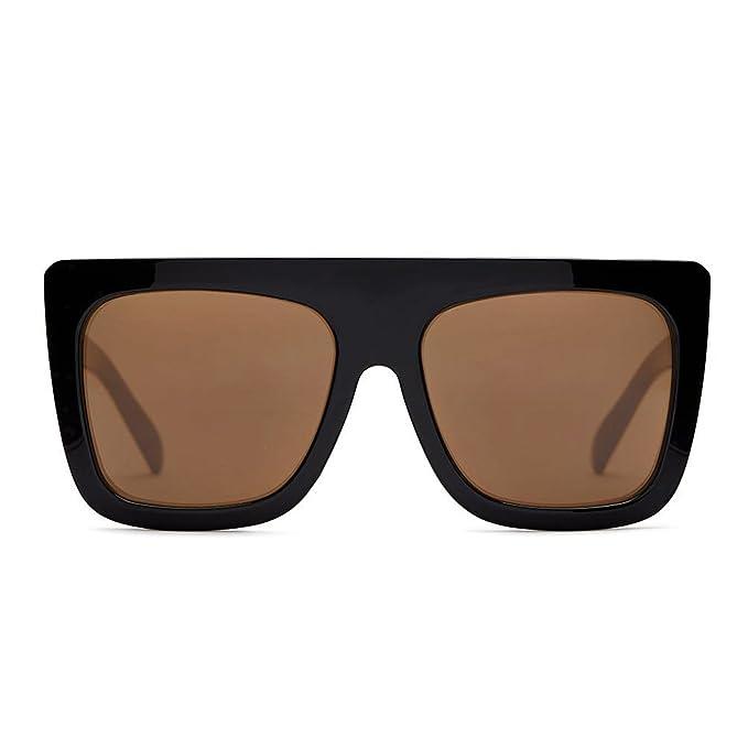8852bc60ca Quay Women s Gradient Café Racer QU-000183-BLK BRN Black Square Sunglasses
