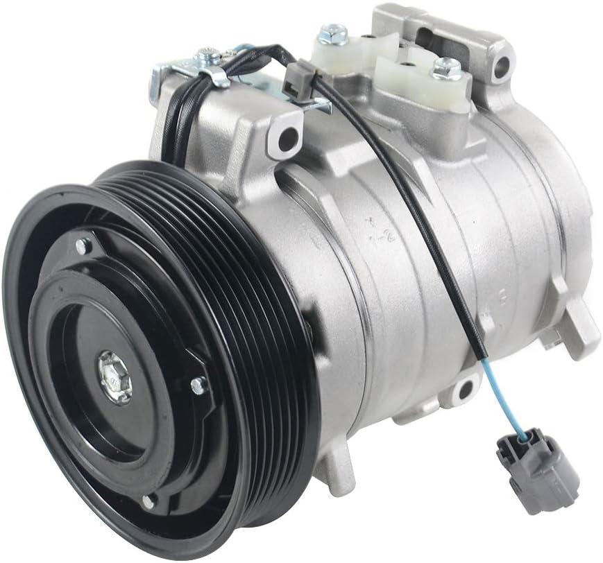 GELUOXI A//C Compressor with Clutch 38810-RAA-A01 for Honda Accord 2003-2007 L4 2.4L 38810RAAA01