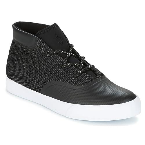 RALPH LAUREN Polo - Zapatillas de Piel para Hombre Negro Negro: Amazon.es: Zapatos y complementos