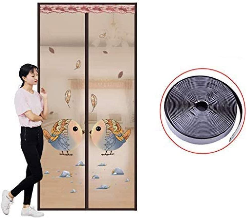 SKY FLM Cortina Magnética, Mosquitera Puerta Magnetica, Anti Insectos Moscas Y Mosquitos, Cierre Automático Y Velcro Adhesiva - para Puertas Correderas/Balcones/Terraza,Brown-100 * 210cm: Amazon.es: Hogar