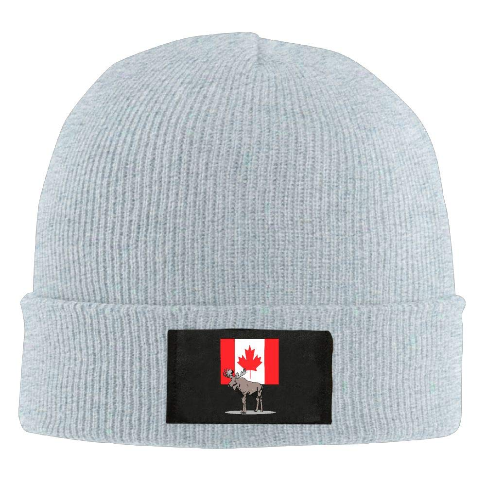 DLOAHJZH-Q Adult Unisex Moose and Canadian Flag Driver Beanies