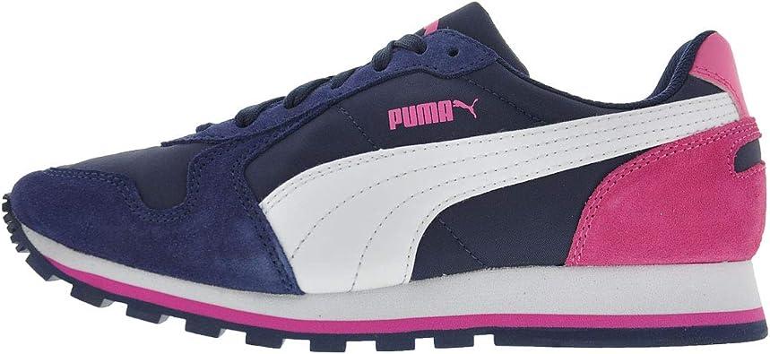 Puma 356738 20 - Zapatillas de Running de competición de Piel Vuelta Adultos Unisex, Color Azul, Talla 41 EU: Amazon.es: Zapatos y complementos