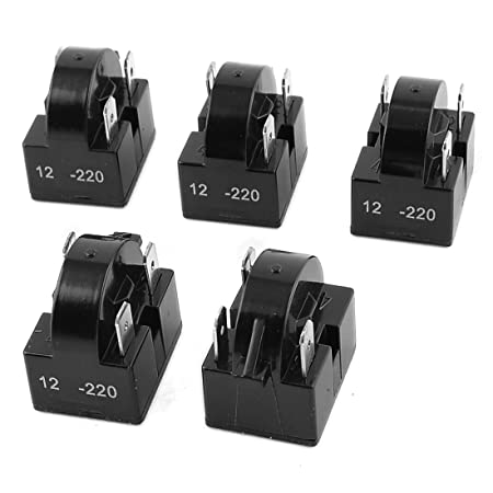 sourcingmap® Negro 5 piezas de 12 Ohm 3 Pin compresor del ...