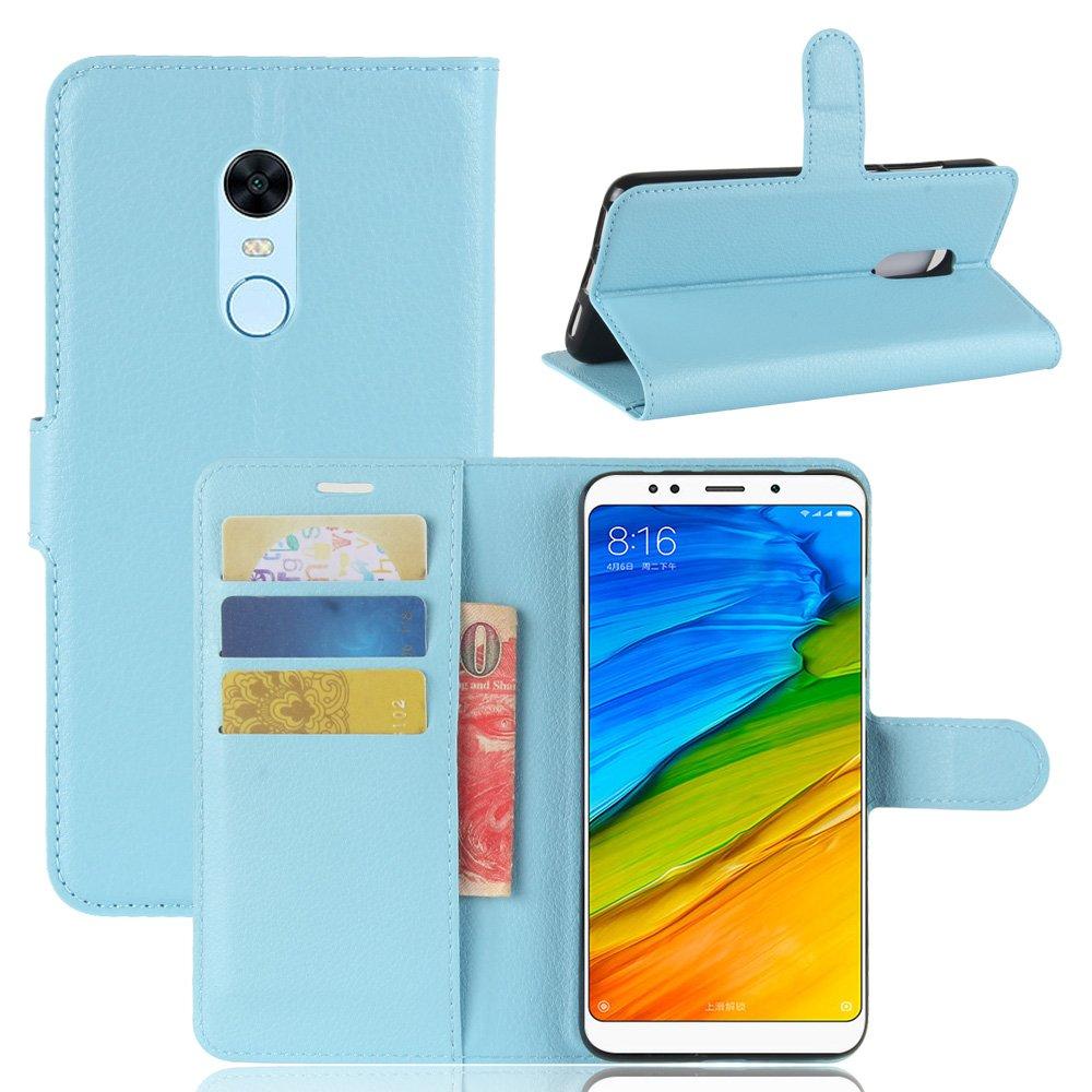 Xiaomi Redmi 5 Plus Brieftasche Hülle, Stilvoller Handyhülle Fall GOGME[Geldbörse Hülle Serie] In einer multifunktionalen Retro-Stil Schutzhülle, Einschubfächer für Karten, Magnetische Verschluss, Flip Bracket Funktion Senior PU-Leder Brieftasche Telefon-K