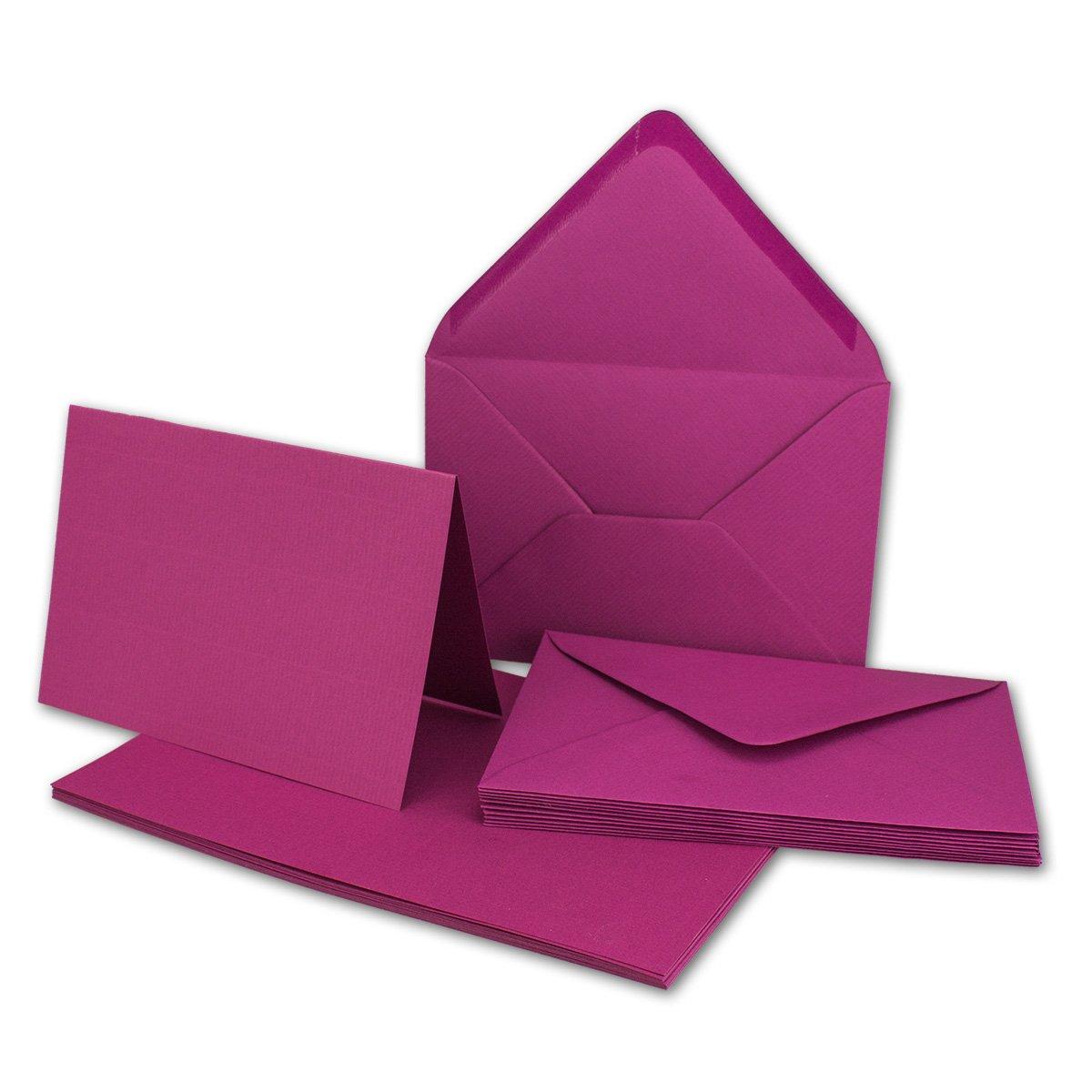 Faltkarten Set mit mit mit Brief-Umschlägen DIN A6   C6 in Rosanrot   100 Sets   14,8 x 10,5 cm   Premium Qualität   Serie FarbenFroh® B079Z9412Z | Am wirtschaftlichsten  4c9f20