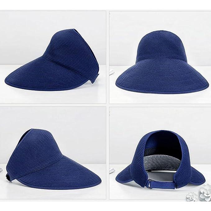 Amazon.com : Sun Hats CJC Sun Visor Full UV Girls Lady Women Ladies Summer Wide Large Brim Protection Outdoor Fishing Travel Beach Cap (Color : 1) : Sports ...