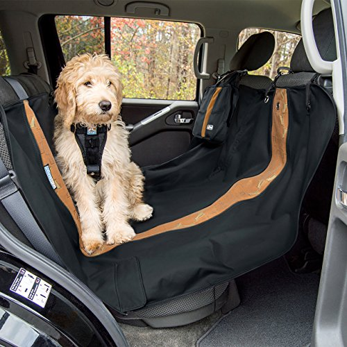 Kurgo Dog Hammock Style Seat Cover for Pets, Pet Seat Cover, Dog Car Hammock - Water-Resistant, Wander Style, Black