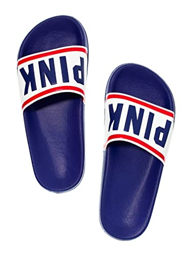 9858a10d47bd7 Victoria's Secret Pink Slides Slippers Navy