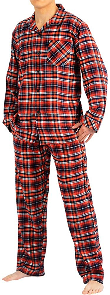 Top /& Pants//Bottoms Soft Durable Brushed Cotton NORTY Flannel Pajamas for Men