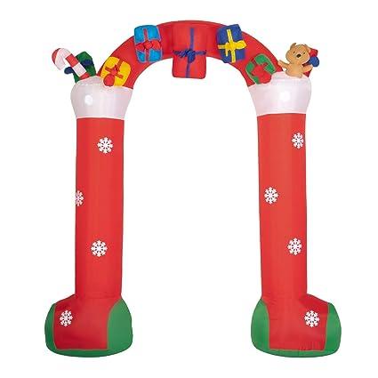 Amazon.com: Peachtree Press Inc - Arco de Navidad inflable ...