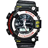RINOTO BLACK DIAL DESIGNER SPORTS WATCH WITH SILICON STRAP FOR MEN