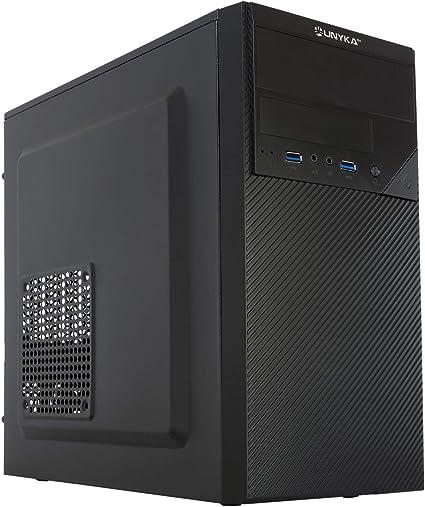 UNYKAch Aero C20 MATX - Caja Ordenador con Fuente 500 W, 2xUSB 3.0 Negro: Unyka: Amazon.es: Informática