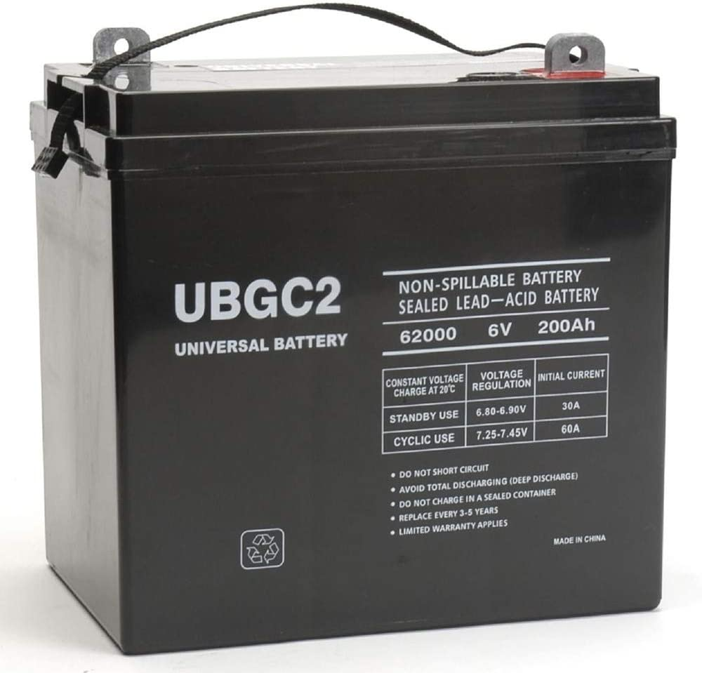 Universal Power Group UBGC2 Sealed AGM Deep Cycle 6V For RV Camper
