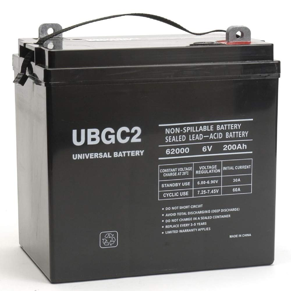 Universal Power Group UBGC2 Sealed AGM Deep Cycle 6V 200AH Battery Golf Cart RV Boat Camper Solar by Universal Power Group