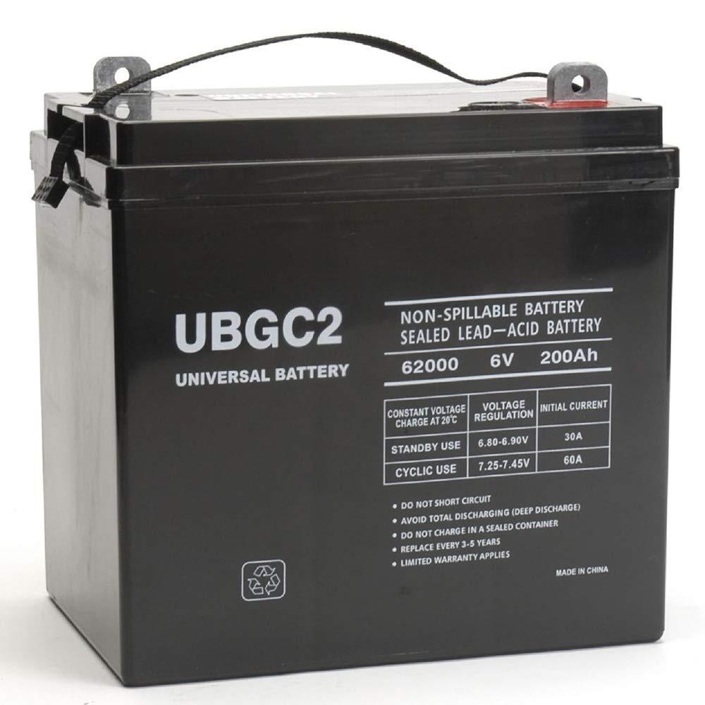 Universal Power Group UBGC2 Sealed AGM Deep Cycle 6V 200AH Battery Golf Cart RV Boat Camper Solar