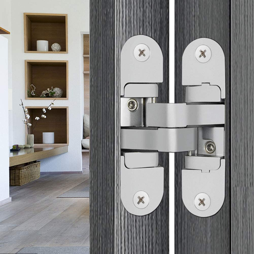 Crossed Concealed Hinge Zinc Alloy Adjustable Door Hinge Cuque Adjustable Hinge Fittings Folding Doors Wooden Doors