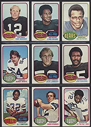 Amazoncom 1976 Topps Football Complete Set 396 Cards