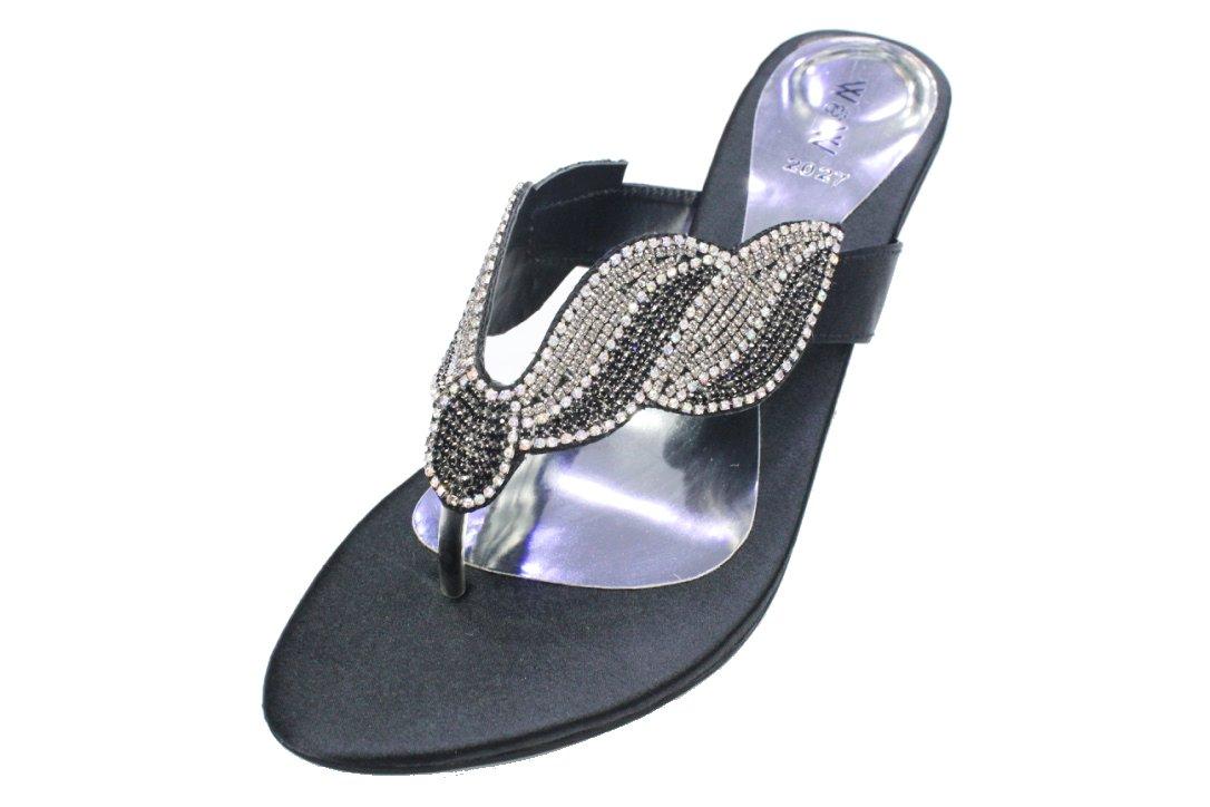 L usure et usure Walk Fashion UK Femme pour à Femme Soirée Fashion Sandale Confortable à Enfiler Diamante Fête de Mariage Bloc Talon Chaussures Taille 4–10 (Reena) Noir b41446f - piero.space
