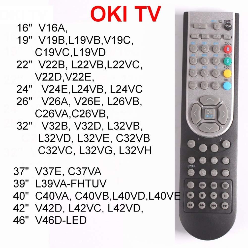 Calvas RC1900 - Mando a Distancia para Oki TV 16, 19, 22, 24, 26 ...