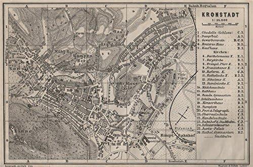 Amazon Com Brasov Kronstadt Town City Planul Orasului Brasso