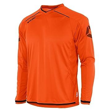 Stanno Futura Camiseta de Manga Larga Naranja-Negro (Naranja-Negro) para niños
