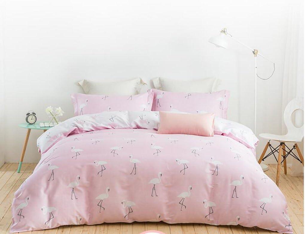 ピンクの掛け布団カバーベッドカバーピロー(シングル、ダブル、キング)寝具を含む美しいベッドルームセットピローセット,200*230Cm