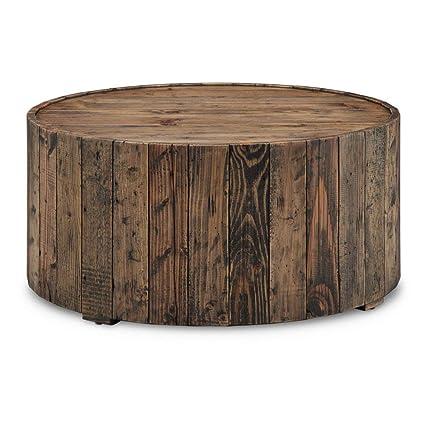 Amazoncom Magnussen T4017 45 Dakota Reclaimed Wood Round Cocktail