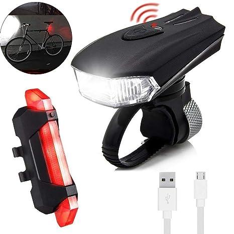 Luces LED Para Bicicleta, Juego De Luces USB Para Bicicleta Con 5 ...