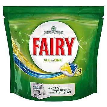 Fairy Todo En 1 Pastillas De Lavavajillas Limón (24): Amazon ...