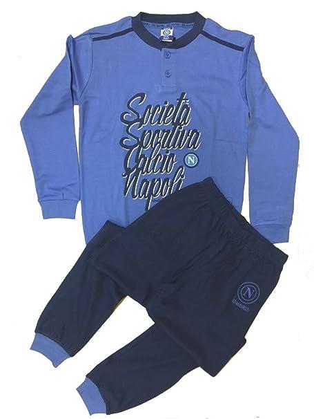 Pijama Niño Napoli ropa oficial fútbol * 24425 azul claro 12 años