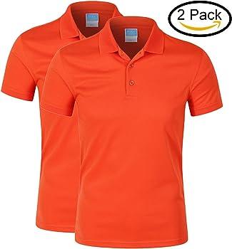 MTTROLI Polos Para Hombre, Ropa Deportiva Golf Polos Para Hombre Manga Corta 2 Botones Diseño Camisetas Pack de 2 (Naranja (Pack de 2), M/Busto 100cm): Amazon.es: Ropa y accesorios