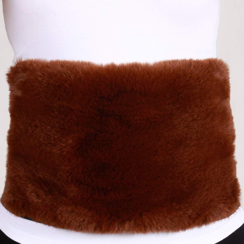 QAR Der warme Winterschutz der Taille des Bauches des Bauches des Bauches ist verdickend Plus Samt kann die Größe neu bestimmt Werden Gürtel (Farbe : Black Body Camel Fluff, größe : M)