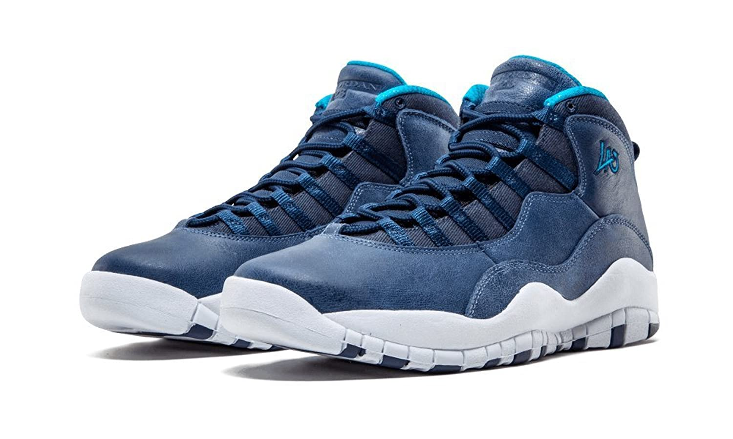 Amazon.com | Air Jordan Retro 10 (Los Angeles-City Pack) Ocean Fog/Midnight  Navy-Bl Lgn | Basketball