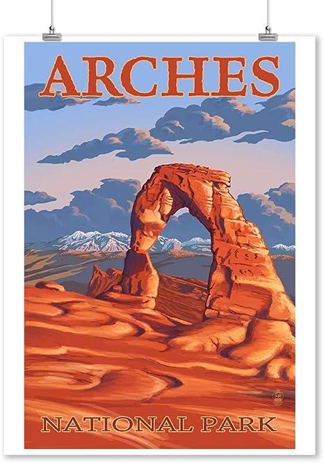 Desert Art Large Panorama Canvas Skyline Arch Arches National Park Southwest Landscape Living Room Art Utah Arches Sandstone Arch