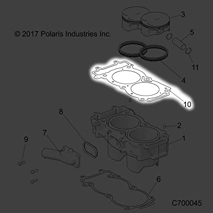 Polaris 2013-2019 General 1000 Md Rzr 900 60In Eutractor Gasket Cylinder Head 5813737 New