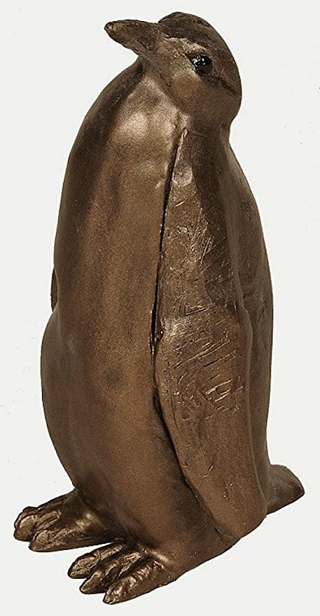 S183 Frith Sculpture EMPEROR PENGUIN small by Paul Jenkins in cold cast bronze