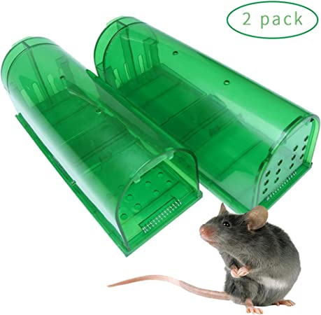 2 Humane Mouse Trap Live Catch and Release Smart No Killing Reusable Mice Rat  .