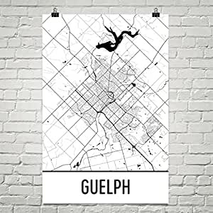 Amazoncom Guelph Map Guelph Art Guelph Print Guelph ON Poster