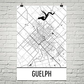 Amazoncom Guelph Map Guelph Art Guelph Print Guelph ON Poster - Guelph map