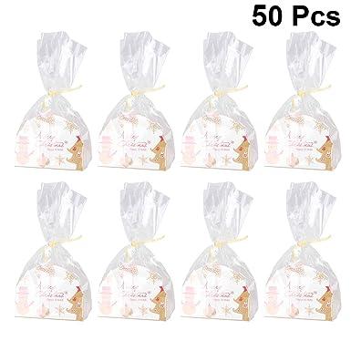 Amosfun 50 set bolsas de golosinas de navidad bolsas de ...
