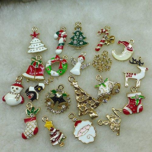 GSN 20pcs/lot Deer Snowman Pendant Chrismas Tree Christmas Gift Santa claus Christmas Decoration Supplies Arbol De Navidad SD15