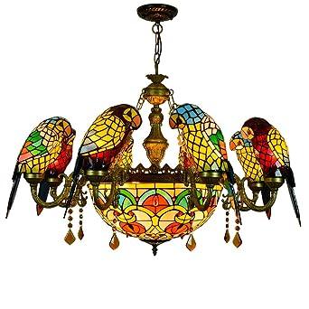 Estilo de Tiffany de color loro lámpara del vitral de Sombras 8 ...