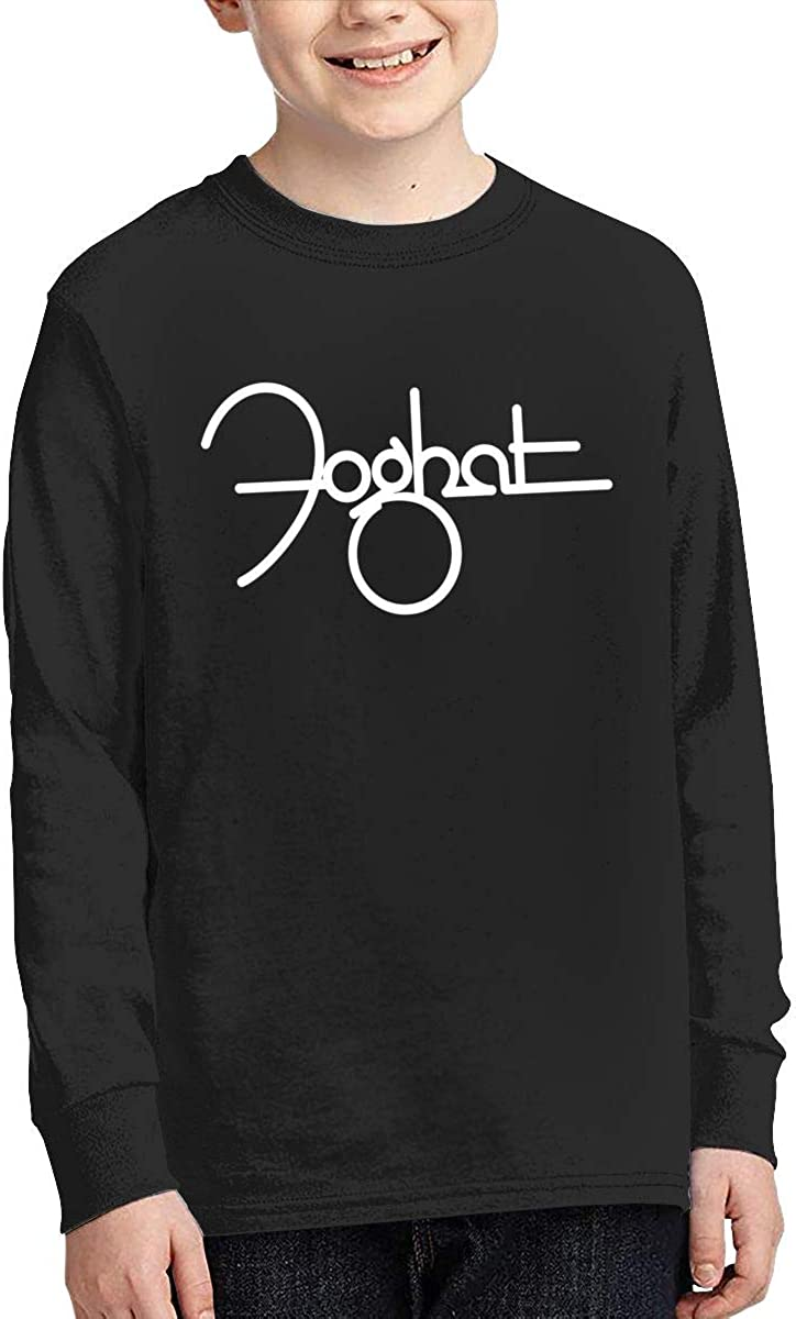 MichaelHazzard Foghat Logo Youth Casual Long Sleeve Crewneck Tee T-Shirt for Boys and Girls