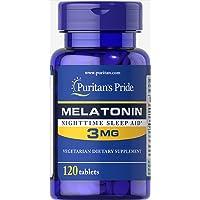 Puritan's Pride Melatonin Tablets, 3 mg, 120ct