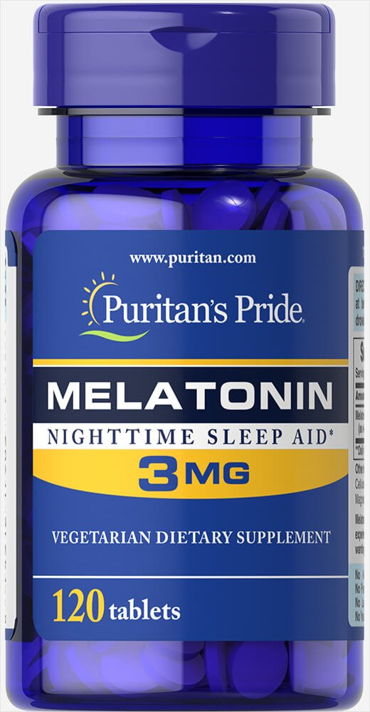 Puritans Pride Melatonin 3 Mg Tablets, 120 Count
