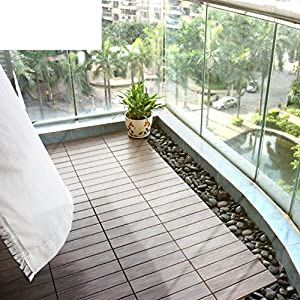 Outdoor Flooring Balcony Wood Diy Garden Floor Pvc Terrace Anticorrosive Plank