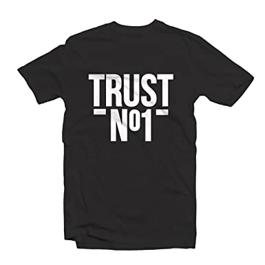 485b67bc TRUST NO 1 T SHIRT 1547 - Dope Swag Hype Hipster Trill Hip Hop Wasted Youth  Trendy Urban Street Wear (Small, Black): Amazon.co.uk: Clothing