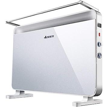 YONGMEI Calentador doméstico/Calefactor eléctrico/Horno rápido Europeo Calefacción eléctrica Estufa de Parrillas Baño Impermeable (Color : Blanco): ...