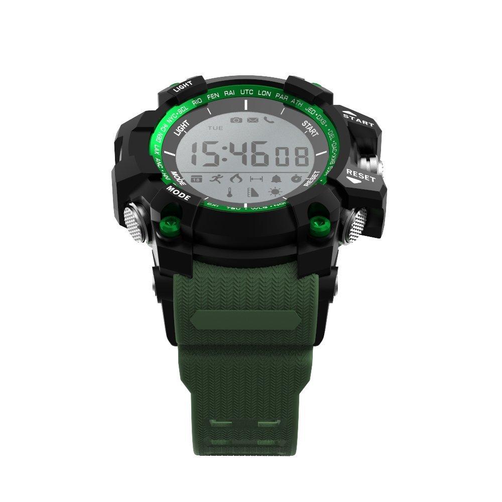 Leotec Smartwatch Mountain - Smartwatch, Sin necesidad de recarga,Altimetro,Temperatura ambiental,Sensor rayos UV, monitor de actividad,sumergible y ...